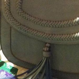 Blue purse with tassle